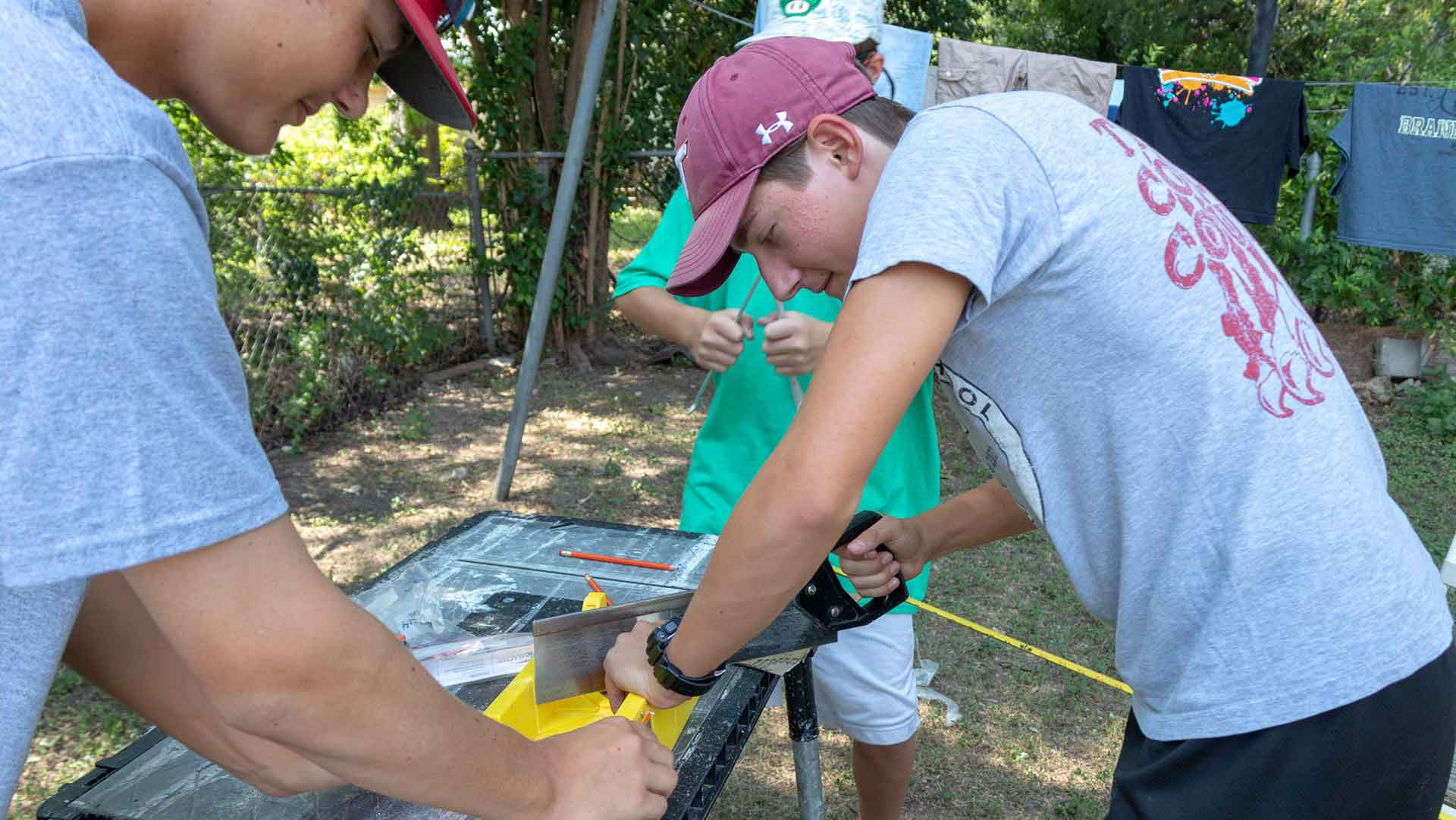Youth Mission Trip hands-on